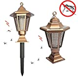 Lámpara solar LED UV antimosquitos, mata-insectos electrónico, para uso exterior e interior, para jardín