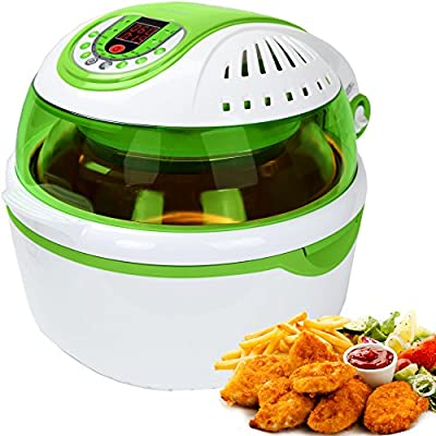 Syntrox Germany Turbo Heiluftfritteuse Heiluftgarer Fritteuse Air Fryer Mit Led Display 10 Liter Garraum Fettfrei Frittieren Grn