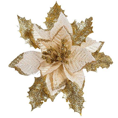 Ornamento di albero di natale o di natale ornamento di natale bowknot festival supplie zycshang (gold)