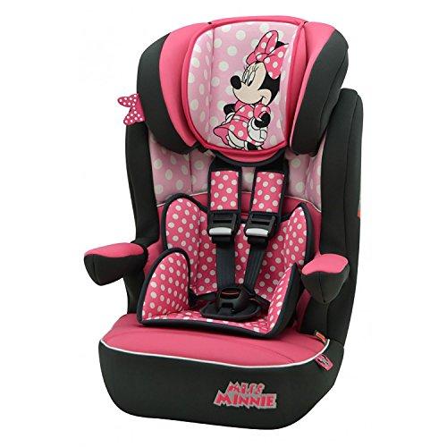 mycarsit Autositz Disney, Gruppe 1/2/3(von 9bis 36kg), Minnie