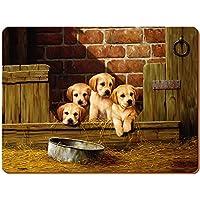 Cuccioli di Labrador Creative Tops-Tovagliette all'americana in sughero, legno, marrone, grande, 4 pezzi