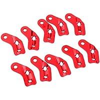 Aleacion De Aluminio De La Cuerda En Forma De L-tensor Antideslizantes Herramienta Ajustable 10pcs Rojos