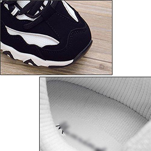 Liangjun Épais Baskets Femme Printemps Baskets, 6 Taille, 2 Couleurs Disponibles (couleur: Blanc Noir, Taille: Eu36 = Uk4.5 = L: 230mm) Noir Blanc