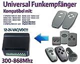 Universal Funkempfänger kompatibel mit Marantec D302-868 / D304-868 / D313-868 / D321-868 / COMMAND 131-868 / D302-433 / D304-433 / D313-433 / D321-433 / COMMAND 131-433 / Digital 382-868 / Digital 382-433 / Digital 384-868 / Digital 384-433 handsender. 2-befehl Rolling Fixed code 300Mhz-868Mhz 12 - 24 VAC/DC Funkempfänger.