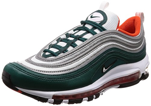 Nike Herren Air Max 97 Sneakers, Mehrfarbig (Rainforest/White/Team Orange/Black 300), 42.5 EU - Team Orange Schuhe