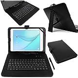 "Funda / Teclado ESPAÑOL Negro 10.1 "" Para Tablet Samsung Galaxy Tab A 9.7 / S2 9.7 - Conexión MicroUSB + Lápiz Stylus - DURAGADGET"