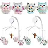 Musical Mobile OWL for Baby Cot (0+) (BLUE)
