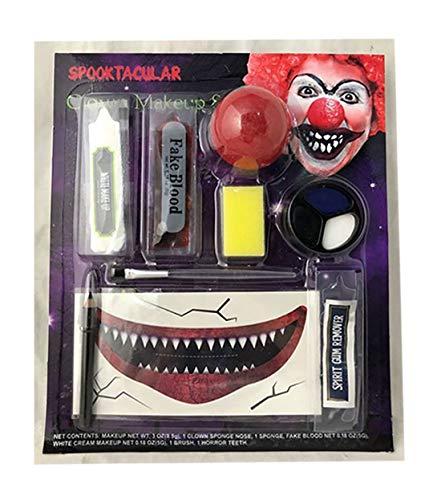 Islander Fashions Halloween B�se Clown Make-Up Gesicht Malerei Kit Erwachsene Horror Kost�m Zubeh�r Clown Eine Gr��e (Make-up Kit Clown)