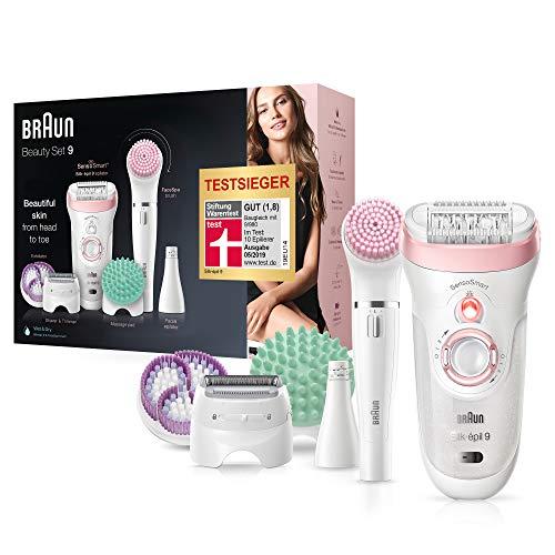 Braun Silk-épil Beauty-Set9 9-995 Deluxe 9-in-1 Kabellose Wet&Dry Haarentfernung- Epilierer, Rasierer, Peeling, Reinigungskit für Gesicht und Körper