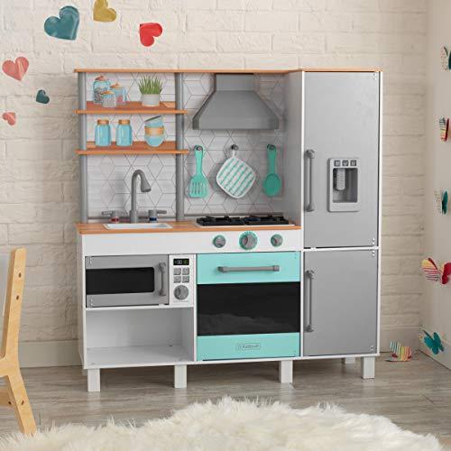 KidKraft 53421 Gourmet Chef Play Kitchen with EZ Kraft Assembly Gray