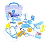 Vovotrade 23St Doktor Spielset Medizinische Kits Rollenspiel Spielzeug für Kinder Arztköfferchen Set Doktorkoffer Medical Kit Spielset (Blau)