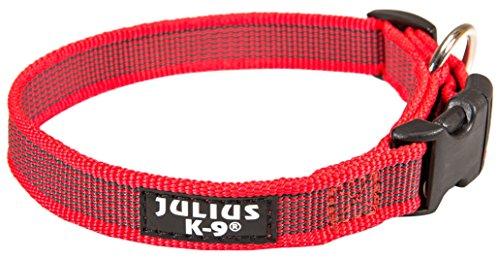 Julius-K9 Collier Pour Chien, Gris/Rouge, Taille L Pour Chien Taille L