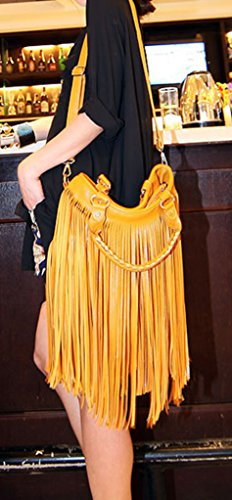 Keshi Cool Damen Handtaschen, Hobo-Bags, Schultertaschen, Beutel, Beuteltaschen, Trend-Bags, Velours, Veloursleder, Wildleder, Tasche Beige