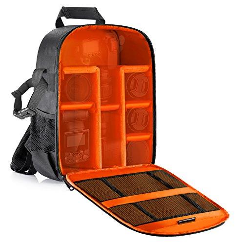 ll wasserdicht stoßfest 30x 14x 37,1cm/30x 14x 37Zentimeter Kamera Rucksack mit Stativhalterung für DSLR, spiegellose Kamera, Blitz oder anderen Zubehör (orange innen) (Fotoausrüstung Regenschirm)