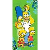 Jerry Fabrics JF0215 Simpsons 2016 Strandtuch, Baumwolle, grün, 70 x 140 cm