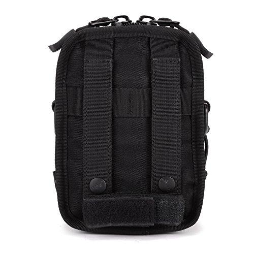 Imagen de huntvp  táctical  de hombro  de bandolera  de pecho estilo militar bolso de múltiple función  ejércita bolso impermeable para correr, senderismo, ciclismo,camping, caza, etc, color negro. alternativa