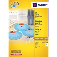 Avery White Full Face CD/DVD Label - Laser -