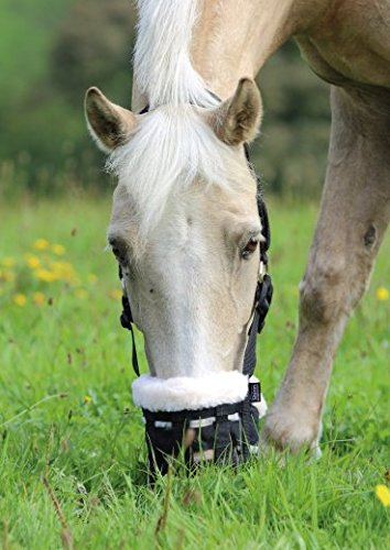 Shires Deluxe grasen Maulkorb (wählen Sie Shetland, Pony, Cob, Full oder extra Full)–mit Fleece-Innenfutter, um Maulkorb & Kinn für Komfort sowie Field Safe Verschlüsse Kaltblut / Warmblut extragroß