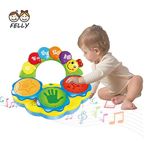 Felly Baby Toys Musical Learning Toys Drums Piano Musical Instrument Early Education Music/Light/Funny sound Baby Toys For 1 2 3 4 Year Old Boys Girls Toddlers Kids - Lighting & Sound Gifts?Yellow?