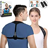 SKEY Posture Corrector for Men & Women Best Upper Back Shoulder Support Adjustable Physical Therapy Brace Spinal Cord Posture Comfortable Body Architect Trainer Neck Pain Relief Super Thin & Light (M)
