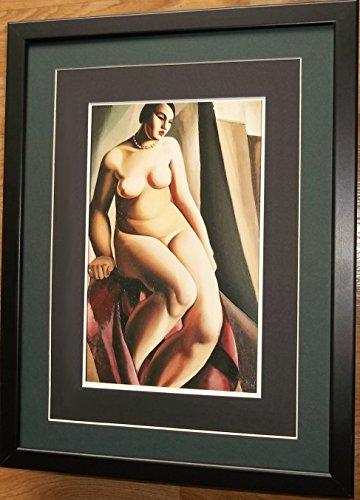 Montiert und gerahmt Art Deco Nude Print, 30,5x 40,6cm gerahmt, sitzen Nude von Lempicka -