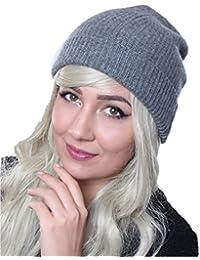 Prettystern - Unisex onesize 2-fädige 100% Kaschmir Wolle Hollywood Star Beanie Mütze - 5 Farben