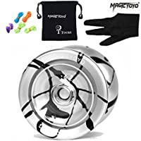 Autentica Magic Yoyo N9 che galleggia Nube alluminio professionale yo-yo palla e 5 Strings & guanti, giocattoli dei bambini del ragazzo della ragazza regalo, argento