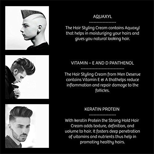 Men Deserve Hair Styling Cream Strong Hold (Keratin Restore)
