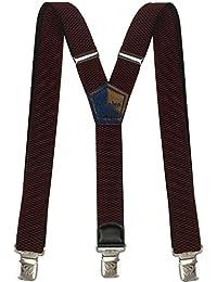 Decalen Bretelle Uomo Donna Unisex larghe 4 centimetri forma a Y regolabile  ed elastico per i pantaloni molto forti Clip… a95327e770f6