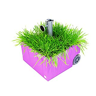 XXD Parasol Base Flower Power Planter with Wheels Pink O 821
