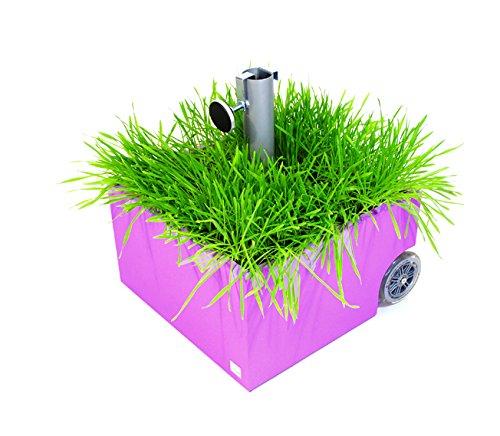 Sonnen Schirmständer Flowerpower bepflanzbar mit Rollen XXD PINK o 821