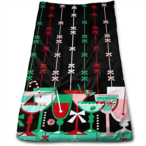 DAICHAI Handtuch Holiday Party Candy Kitchen Towels Dish Cloth Machine Washable Polyester Kitchen Dishcloths,Dish Towel Tea Towels for Drying,Cleaning,Cooking,Baking (12 X 27.5 Inch) Holiday Candy Dish