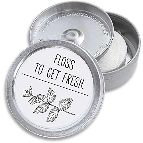 200 m DOCTORS FLOSS, Zahnseide in Dose, nachfüllbar, mit Nachfüllpack, Alternative zum Stick, leicht gewachst, vegan