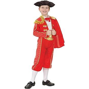 Fancy Me Ragazzi 5 Pezzi Oro Rosso Spagnolo Matador Combattente di Toro  Intorno al Mondo Costume Travestimento - Oro Rosso 05fd6bdb4920