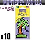 California Car Scents Monterey Vanilla zum Aufhängen Palm Tree Lufterfrischer X 10