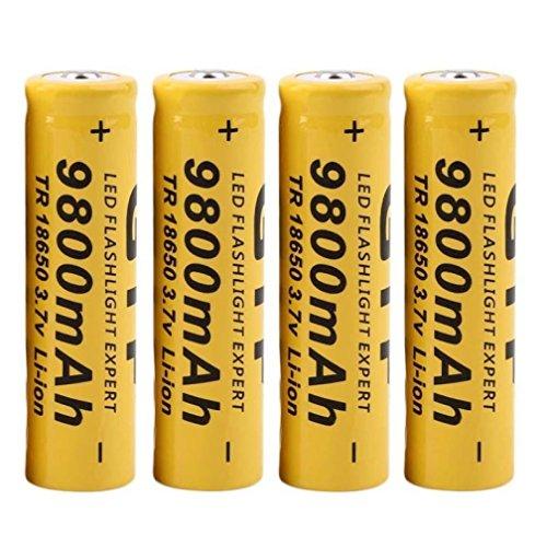 Amazon.co.uk - 4pcs 3.7V 18650 9800mAh Li-ion Rechargeable Batteries
