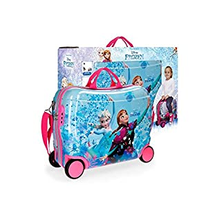 Disney Frozen 4199961 Equipaje infantil, Maleta 50 Centímetros, 34 Litros, Multicolor, Elsa y Anna