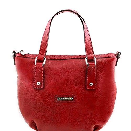 Tuscany Leather Olga - Sac shopping en cuir - TL141483 (Miel) Rouge