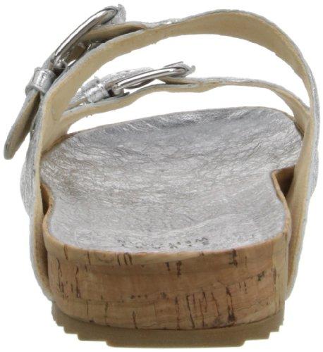 Stuart Weitzman Freely Cuir Sandale Silver Foil
