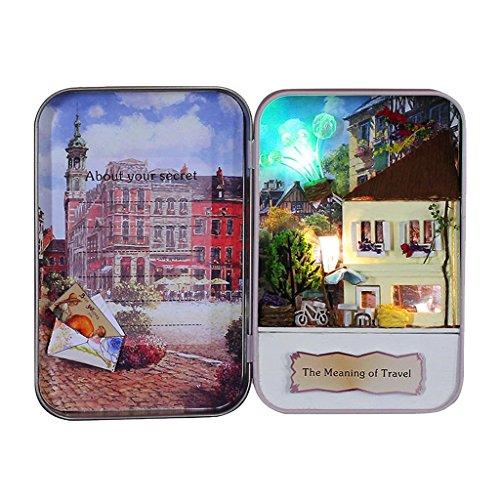 Homyl DIY Miniatur Puppenhaus Handgemachte Box Theater Kit, Gutes Weihnachten / Geburtstag Geschenk für Freunde - # 2