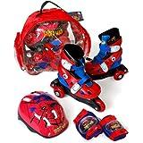 Spiderman - Set de patines transformables en línea, talla 35-38 (Saica Toys 7526)