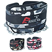 """Dip Belt with 36"""" Extra length Heavy Duty Chain, Comfort Fit Neoprene, Double Stitching Maximize your Weightlifting & Bodybuilding Workouts with Durable Dipping Belt, Extra Padding"""