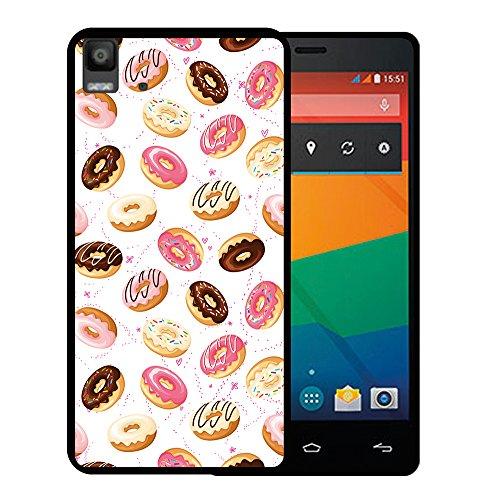 Bq Aquaris E5s - E5 4G Hülle, WoowCase Handyhülle Silikon für [ Bq Aquaris E5s - E5 4G ] Donuts Handytasche Handy Cover Case Schutzhülle Flexible TPU - Schwarz