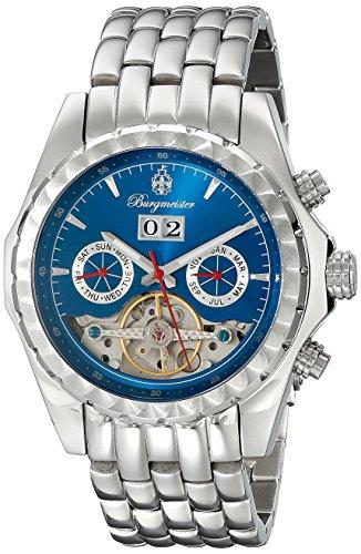 Burgmeister Armbanduhr für Herren mit Analog Anzeige, Automatik-Uhr mit Edelstahl Armband - Wasserdichte Herrenuhr mit zeitlosem, schickem Design - klassische Uhr für Männer - BM137-131 Valencia