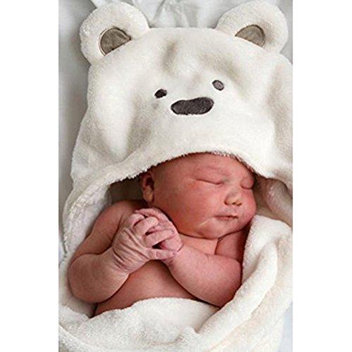 Pixnor Baby Wrap/Wickeltisch/Decke, weiche Fleece/weiß