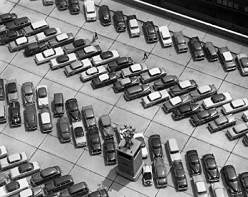 Aerial View of Cars Parked in a Parking Lot Port Authority Bus Terminal Manhattan New York City New York State USA Poster Drucken (60,96 x 91,44 cm) - New York Bus Terminal