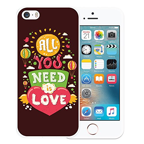 iPhone SE iPhone 5 5S Hülle, WoowCase Handyhülle Silikon für [ iPhone SE iPhone 5 5S ] Rock & Roll Gitarre Handytasche Handy Cover Case Schutzhülle Flexible TPU - Transparent Housse Gel iPhone SE iPhone 5 5S Transparent D0227