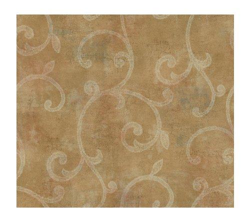 Metallic Scroll (York Wallcoverings gl4636Metallics Buch Lacey Scroll erhöhte Print Tapete)