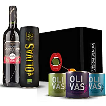 Geschenkset Bio-Olivenöl 5-teilig (mit 2008er – Vides – Gran Reserva – Catalunya)