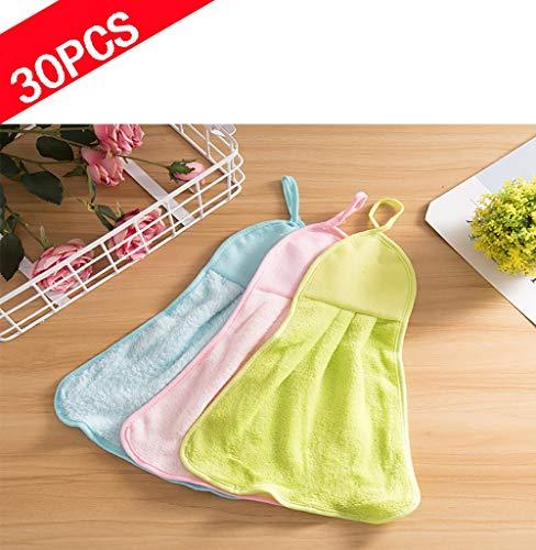 ZUEN 30 STÜCKE Reinigungstücher Mikrofaser, Staubtuch für Zuhause Starke Absorption Wasser Staub Geschirrtücher zum Reinigen Entfernen Sie Das Öl Glas Reiniger Tuch